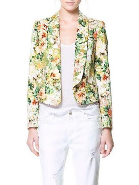 Digital Floral Blazer