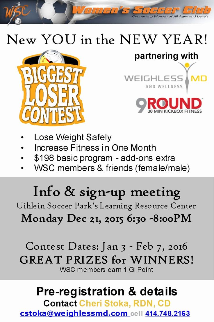 Biggest Loser Contest Flyer Template Beautiful Women S