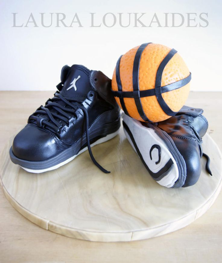 """Jordan Basketball shoes Cake"" for my Brother's Birthday!! I hope you all like it!! x"