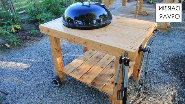 Pretty Diy Weber Grill Cart Bbq Station Youtube Design Regarding