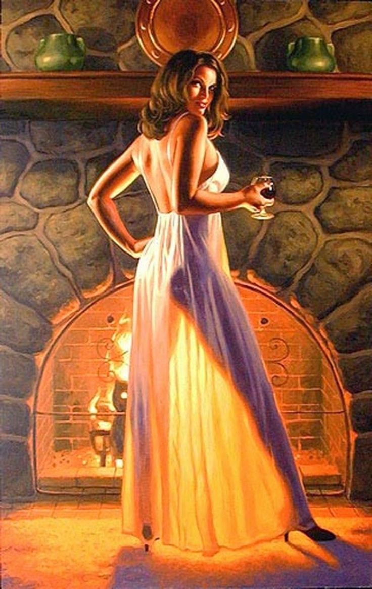 D.W.C. Pin-up and Nylon Stockings - Painter Greg Hildebrandt