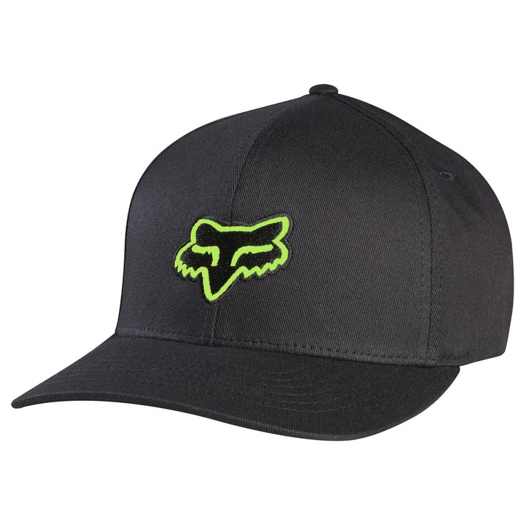 The Fox Racing Legacy hat has embroidery logo on both the front and back. This is a medium profile hat with a natural curved bill and is made of 98% cotton and 2% Spandex.