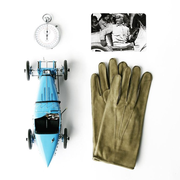 Olive - colored soft leather/ Silver Arrows Collection