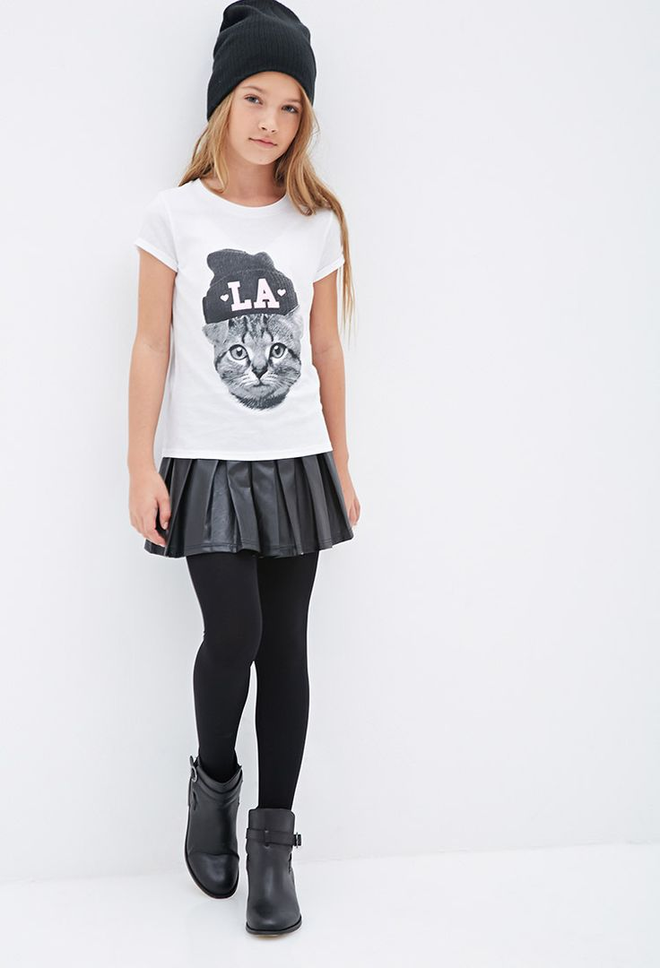 Sparkly LA Cat Tee (Kids)   FOREVER21 girls - 2000100821