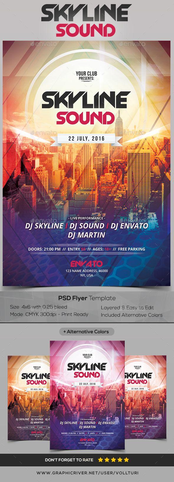 Skyline Sound - PSD Flyer Template