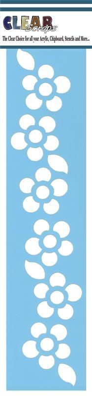 Clear Scraps - Mascils - Border Masking Stencil - Floral 1 at Scrapbook.com