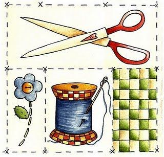 Imagens para Decoupagem: Imagens de Costura para Decoupage
