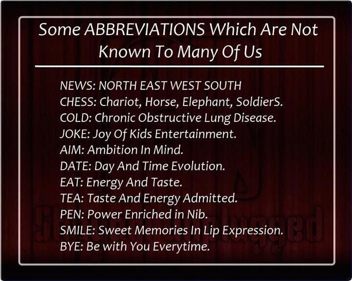 17 Best images about abbreviations on Pinterest | Texting