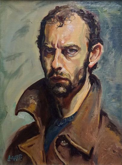 Self Portrait, Oil on Cavas, 19 x 22 inchs, by Aidan Harte 2016 #selfportrait