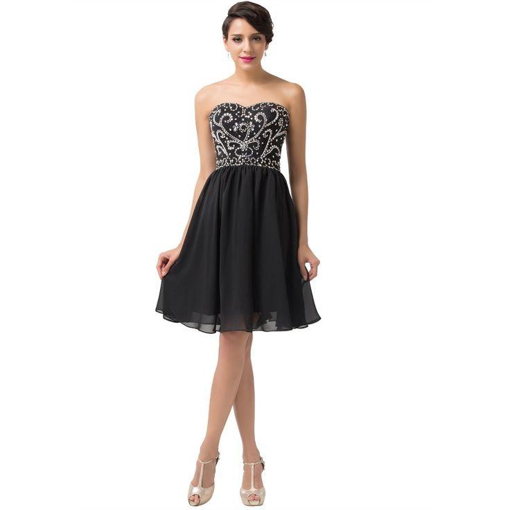 Čierne spoločenské šaty CL6049-2