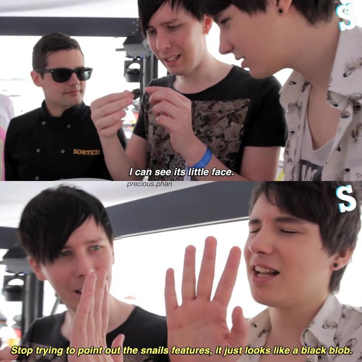 Looks like a conversation between my aisterband I, in which I am defiantly Phil, and she's Dan
