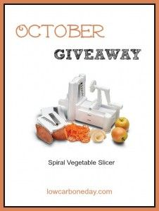 October Giveaway: Spiral Vegetable Slicer - Living Low Carb One Day At A Time
