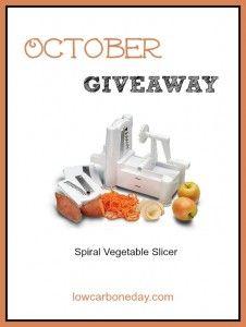 October Giveaway: Spiral Vegetable Slicer - Living Low Carb One Day At A Time