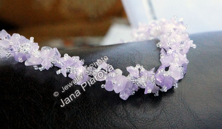 JEWELLERY & PHOTO BY JANA PIAROVA * Exclusive original design. Unique, hand-crafted works of art. Material: AMETHYSTE mineral stone & Czech glass.  https://www.facebook.com/pages/Jana-Piarová/138211165486?ref=br_rs &  www.decortime.cz
