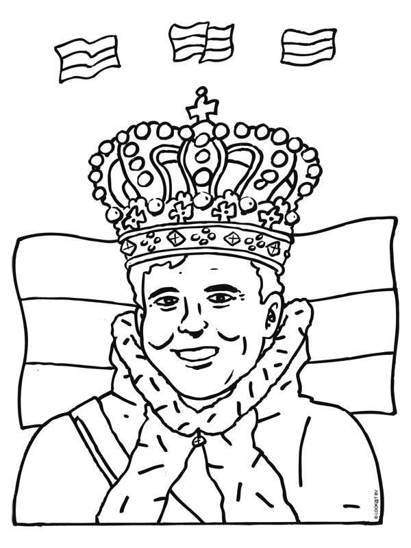 kleurplaat koning