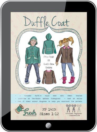 Duffle Coat PDF Pattern