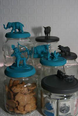 Klompstempel handgemaakte stempels: Glazen potten