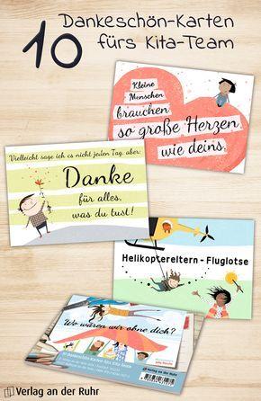 """Einfach mal Danke sagen! Ob den KollegInnen oder der Leitung – oft sind es gerade die netten Worte zwischendurch, die so richtig gut tun. Unsere wunderschön illustrierten Postkarten """"Wo wären wir ohne dich?"""" machen das Danke sagen jetzt noch schöner! Einen Überblick über alle Motive finden Sie unter http://www.verlagruhr.de/9783834631275.html?etcc_cmp=Pinterest&etcc_med=STC_CC_ATTR_VALUE_SOCIAL Wir wünschen viel Spaß beim Verschenken!   #Danke #Karte #Kollegin #Geschenk #Kita #Kindergarten"""