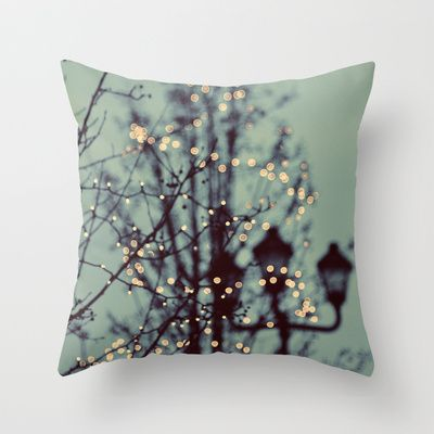 Winter Lights Throw Pillow by Elle Moss - $20.00