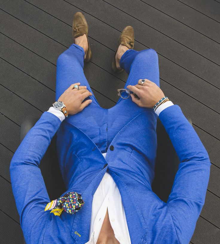 Summer Royal blue suit • men's fashion shop on www.nohowstyle.com