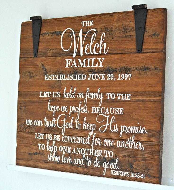 Family sign with verse by Aimee Weaver Designs
