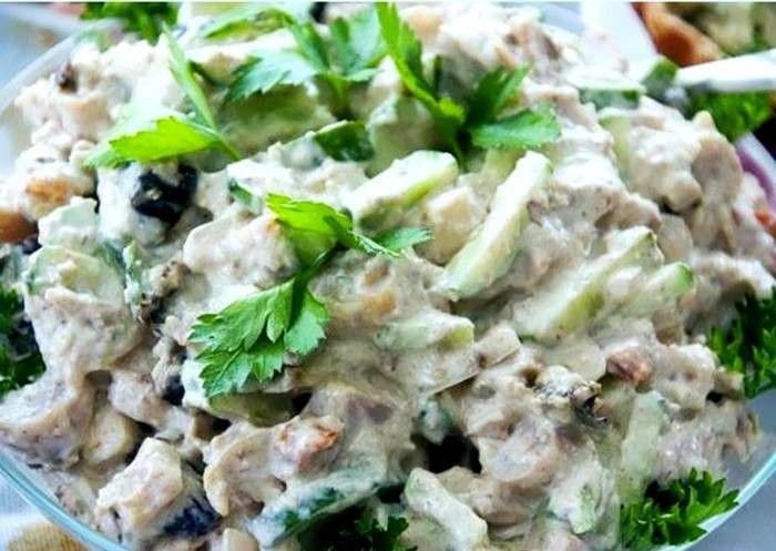 Салат из куриных сердечек - рецепт с фото