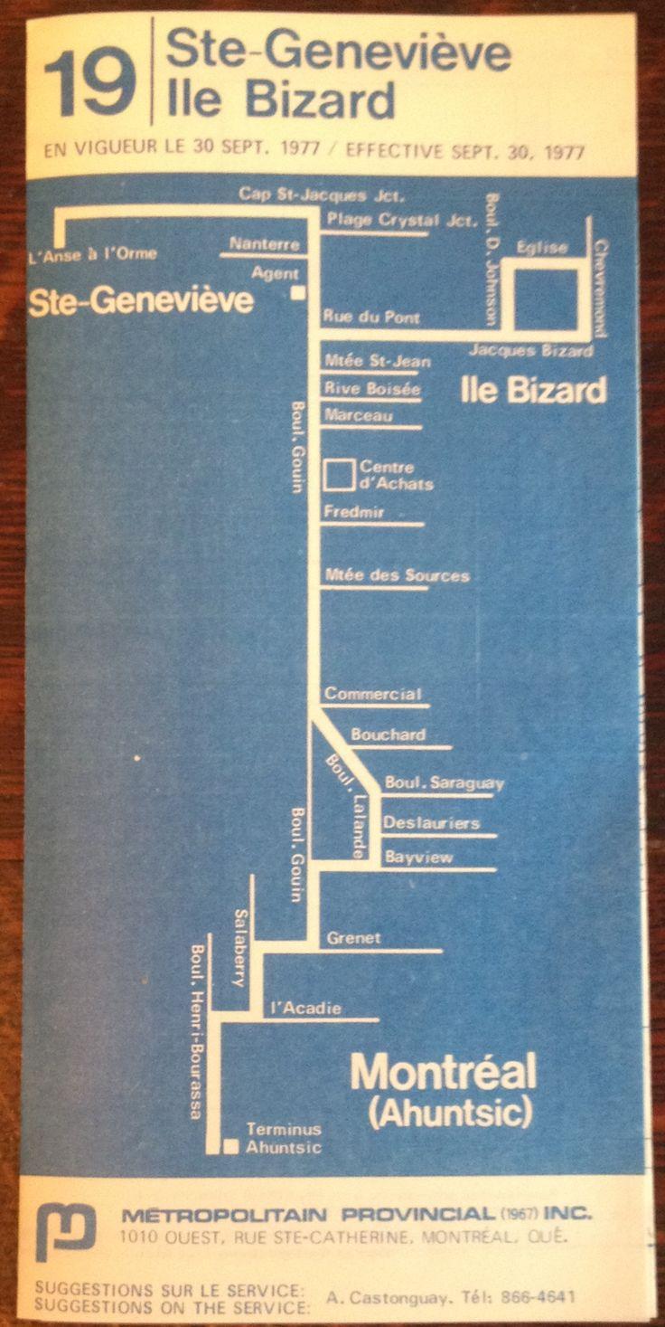 Montreal bus schedule St. Genevieve Ile Bizard