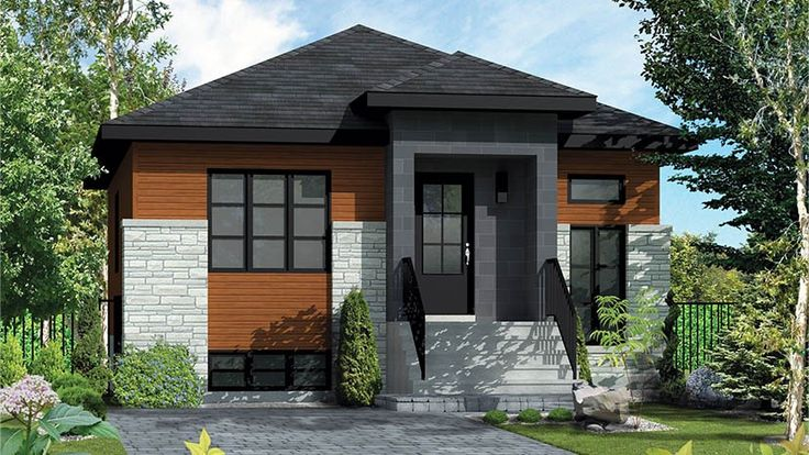 Floor Plan AFLFPW77839 is a beautiful 797 square foot Contemporary/Modern Plans home design with 0 Garage Bays