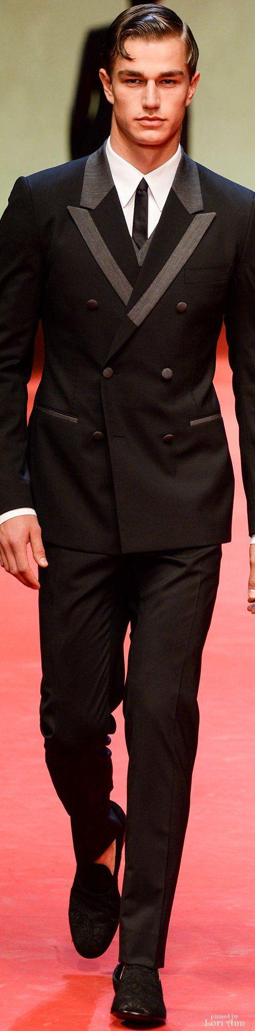 Gentlemen:  #Gentlemen's #fashion ~ Dolce & Gabbana Spring 2015 Menswear.