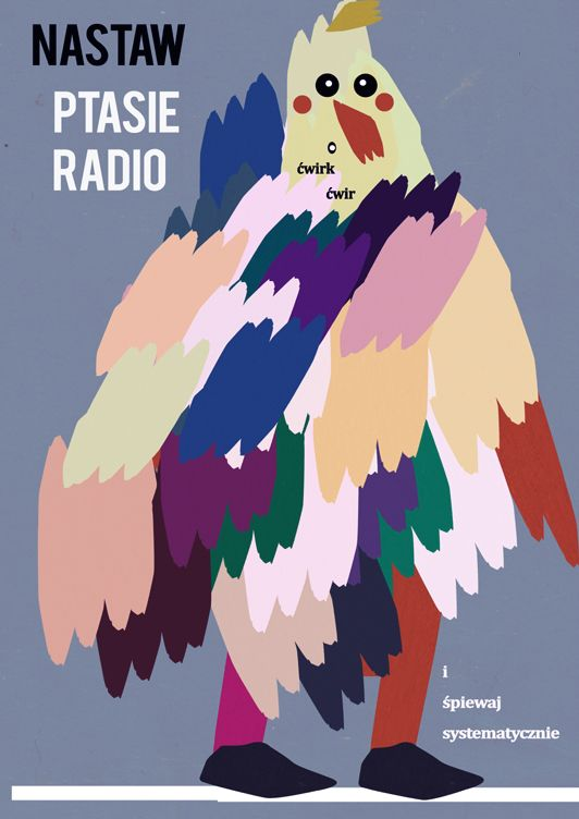 turn on the radio and sing regularly / optimistic poster