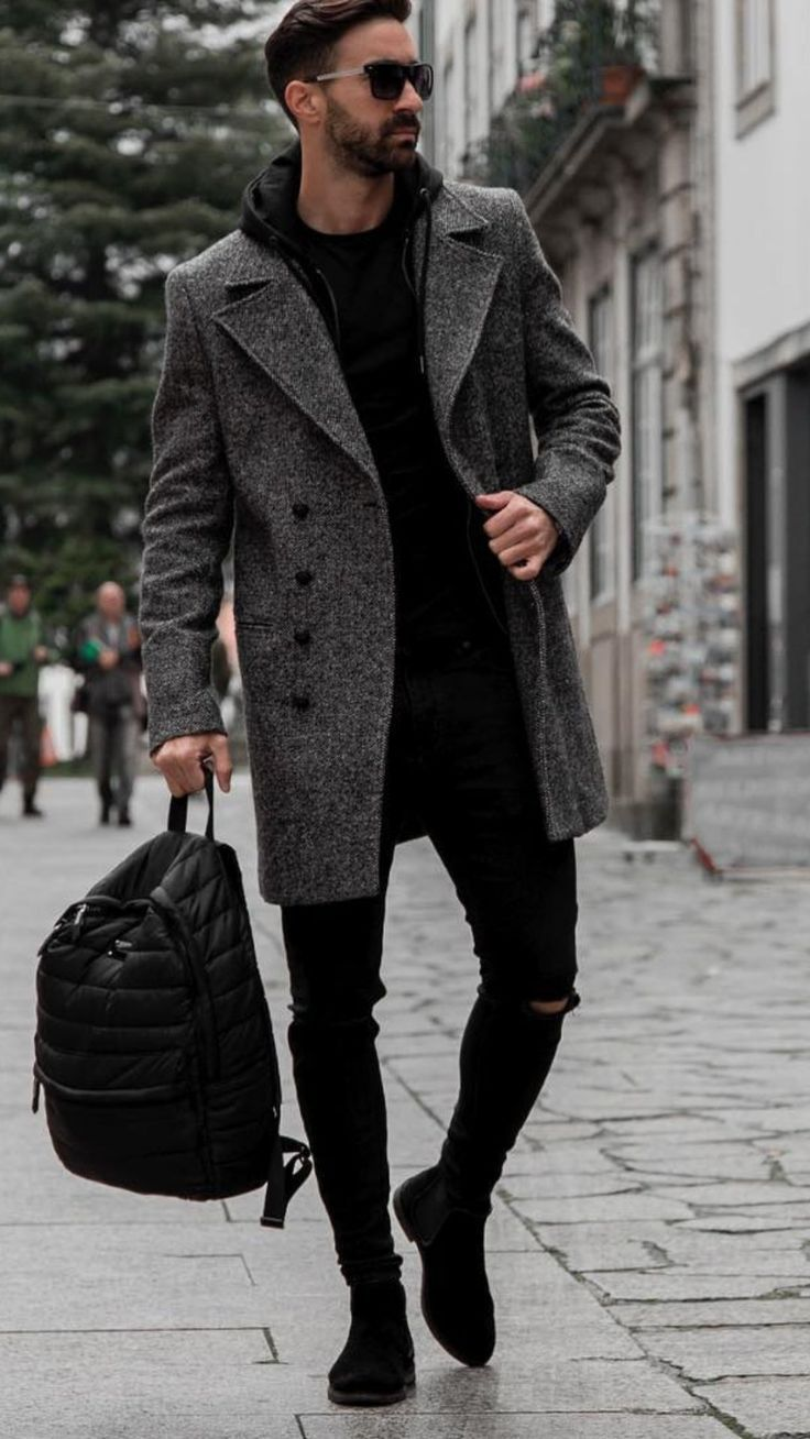 Mens winter fashion, sunglasses, fashion, mens fashion, eyewear, coat, boots / d…