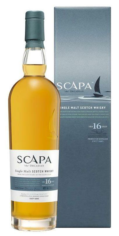 Zestien jaar oude Island single malt van Scapa gerijpt op bourbon vaten. Ongeturfd en verrassend zacht.