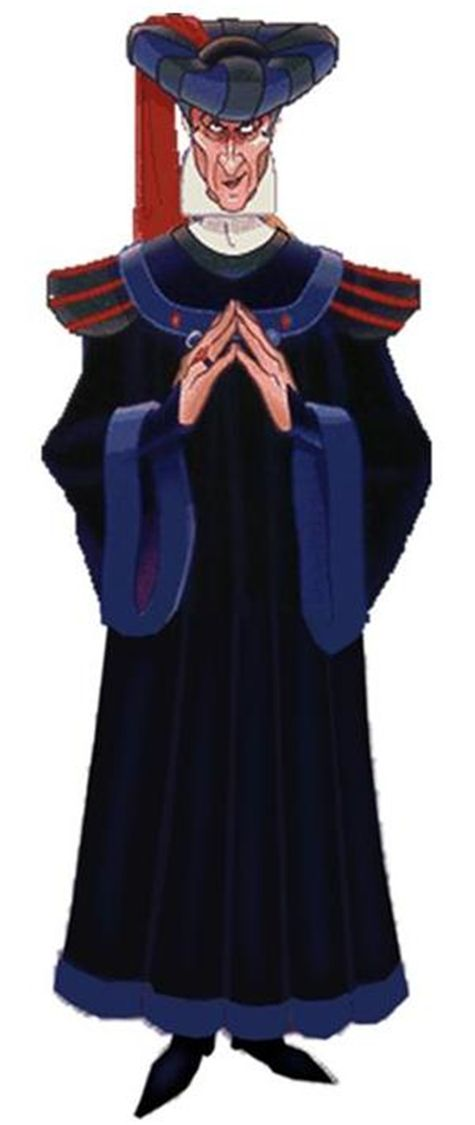Judge Claude Frollo:  Kills an gypsy and attempted to drown her baby.  Whips one of his men for failure.  Burns a house with a miller and his family.  Kills ants to show a genocide of gypsies.  Burns all of Notre Dame.  Attempted to burn Esmeralda after she refuses to be with him.