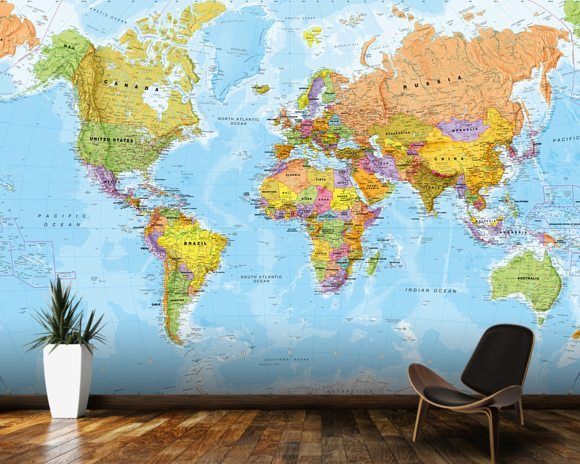 World map outline mural gallery diagram writing sample and guide best 25 world map mural ideas on pinterest world wallpaper political world map wall mural sciox sciox Image collections