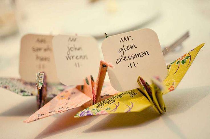 Segnaposto per il matrimonio fai da te - Origami segnaposto