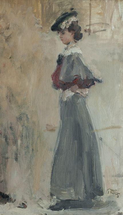 "by Isaac Israels 1865-1934 ""Plaçe Vendôme""Welkom bij Van Voorst van Beest Gallery ~"