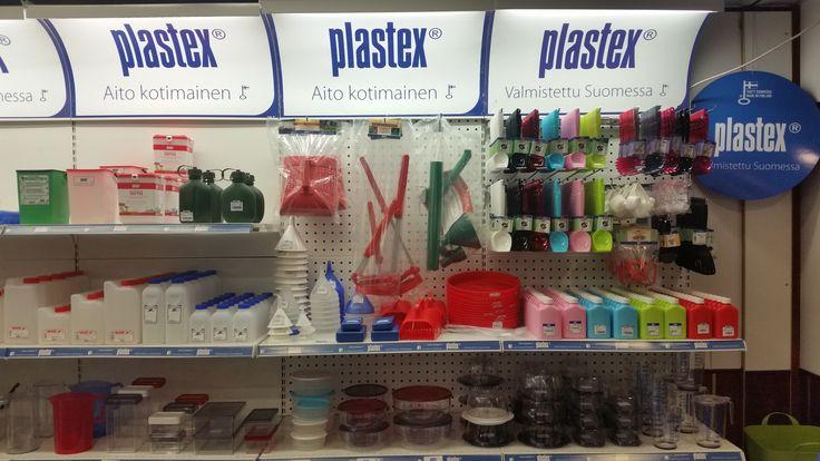Hyllykokonaisuus nostaa myyntiä ja se tuo pirteät värit oikeuksiinsa! Plastex - Valmistettu Suomessa