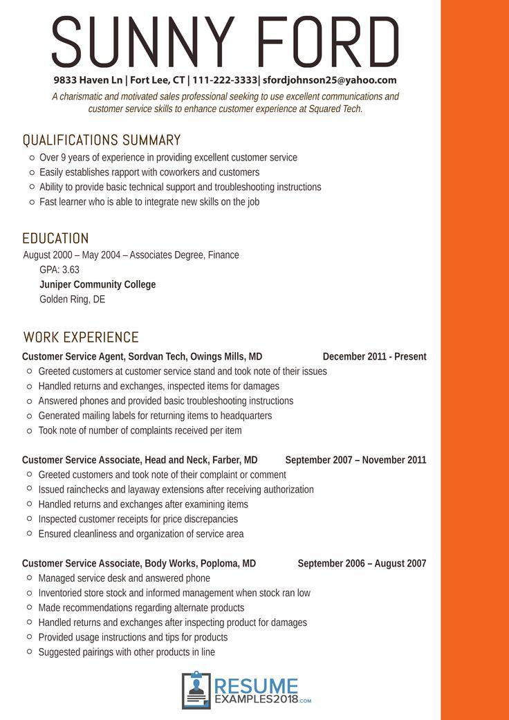 resume examples 2018 customer service best marketing resumes skill summary sample biodata format pdf free download