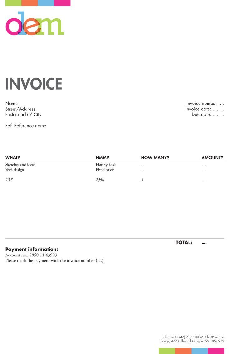 Invoice Template Invoice Behind The Scenes Invoice Design