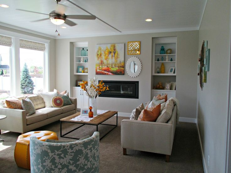 Agreeable Gray Living Room : Agreeable Gray was the main color throughout the home ...