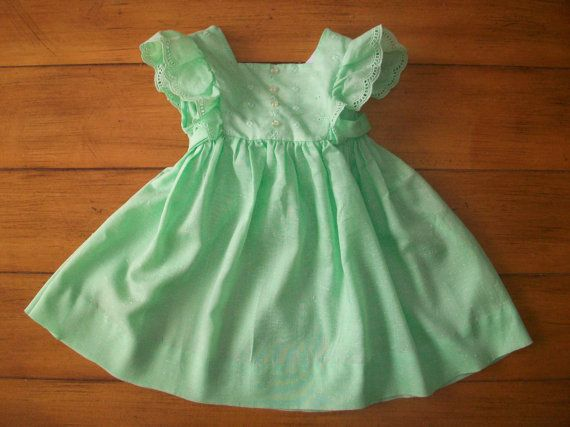 Size 3T Vintage Ruth of Carolina Toddler Infant by LittleMarin: Eyelet Dress