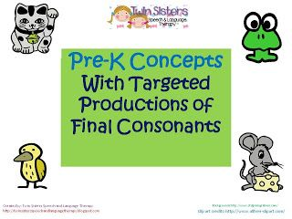 Twin Speech, Language & Literacy LLC: *updated Post 4/10/2013: Pre-K Concepts with Targe...