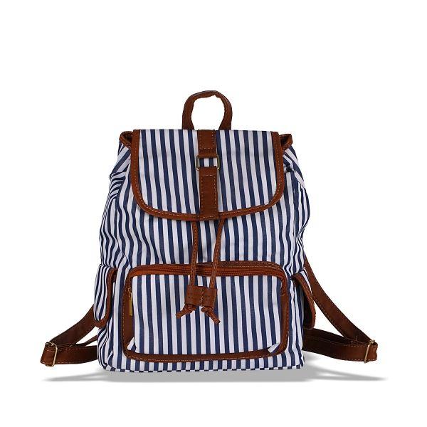 Çizgili Sırt Çantası #çizgili #sırtçantası #moda #kadın #bag #backpack #snazzy #streetstyle #women #trend #fashion #striped