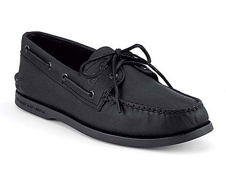 Sperry Top-Sider Authentic Original 2-Eye Boat Shoe. All black