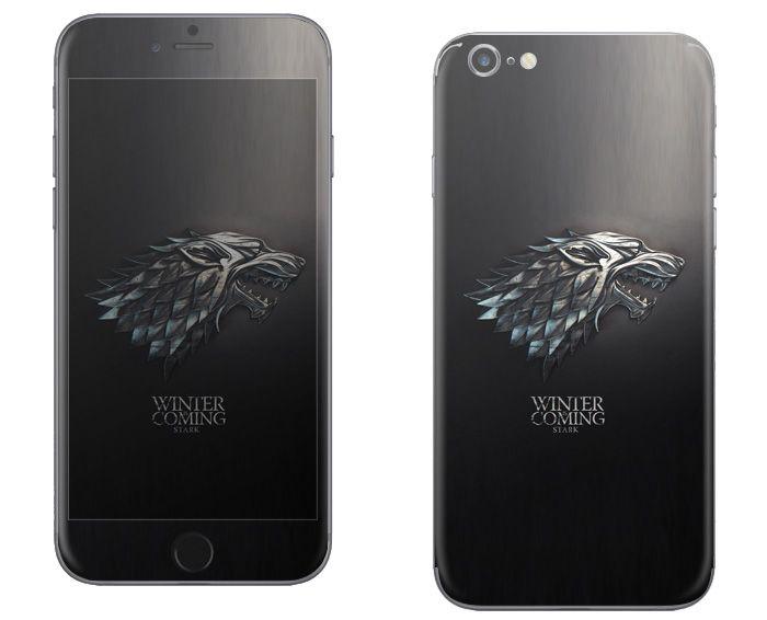 아이폰6 플러스 왕좌의 게임 주문제작스킨 시안