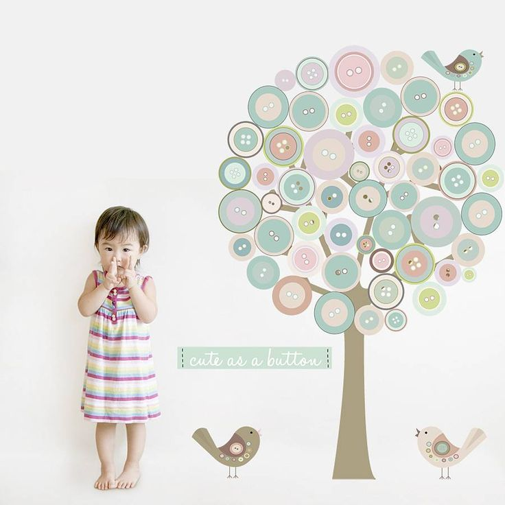 Are you interested in our button tree fabric wall sticker? With our tree fabric wall art you need look no further.