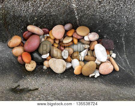 Pebbles in rock