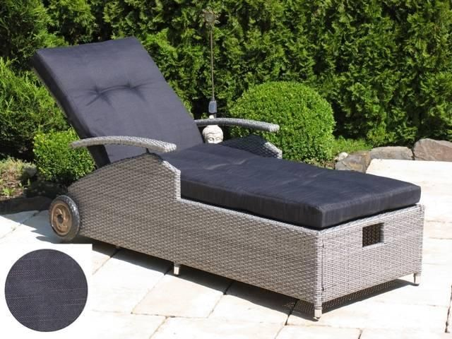 Famous Home Rattan Liege Trendgrau mit Kissen  Gartenliege Liegestuhl Sonnenliege  Relaxliege Jetzt bestellen unter: https://moebel.ladendirekt.de/garten/gartenmoebel/gartenliegen/?uid=0fc6930e-9993-5d7f-a898-c1310ba07a54&utm_source=pinterest&utm_medium=pin&utm_campaign=boards #gartenliegen #baumarkt #garten #gartenmoebel #gartenmöbel #dekoration