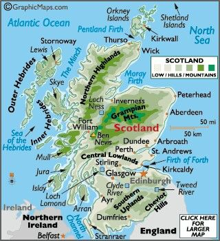Map of #Scotland #travel #vacation #information This Pin re-pinned by www.avacationrental4me.com
