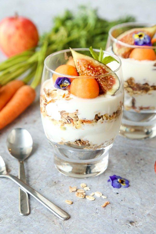 Vegan Muesli Yoghurt Parfait - Little Sunny Kitchen